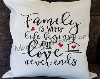 READY TO SHIP 18x18 Canvas Pillow Cover