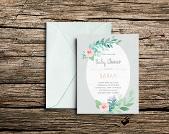 Printable Baby Shower Invitation (5x7)