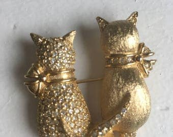 Brooch cats Grosse Germany vintage