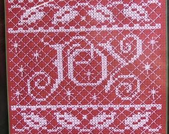Bucilla counted cross stitch Joy kit