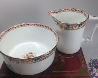 Sutherland China Milk Jug and Sugar Bowl, Pretty Vintage Milk Jug and Sugar Bowl, Milk Jug Sugar Bowl Set