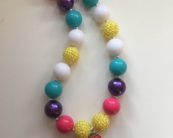 Easter baby chick bubblegum necklace