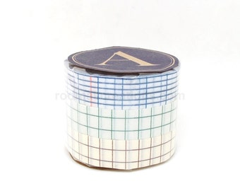 Classiky Grid Washi Tapes - 12mm - Set of 3