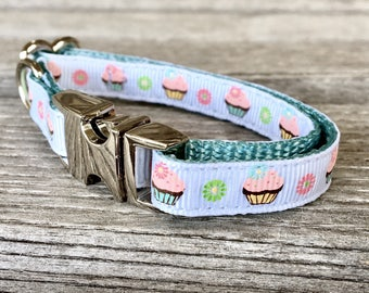 Little Cupcakes Teacup Dog Collar, Toy Breed Dog Collar Cupcake