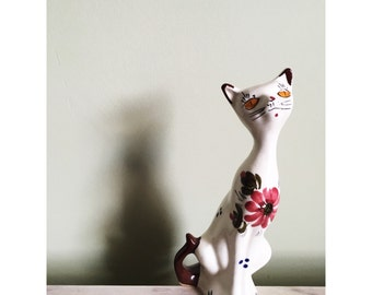 1950s kitsch hand painted cat