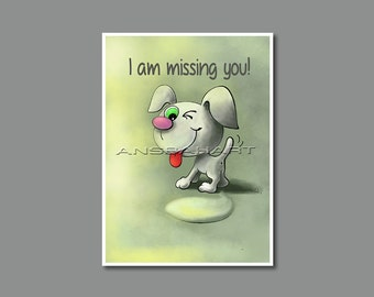 Miss You Card Printable Date-up Card Comical  Digital I am Missing You Card  I Am Thinking About  You Card Do You Miss Me Card Let's Meet