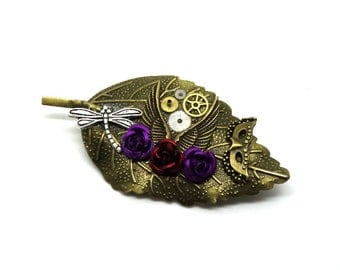 Steampunk wing, part of watch pin