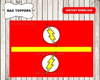 The flash logo bags toppers instant download , The flash treat bags toppers, Printable The flash bags toppers