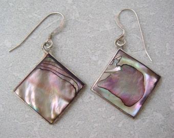 Alpaca Mexico Abalone Shell Earrings