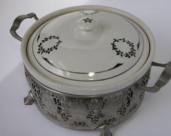 Royal Rochester Casserole with Metal Server