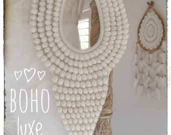 Large Tribal Shell Necklace Wall Hanging