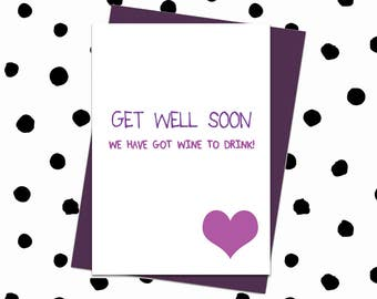 Funny Get Well Card. Work Colleague Card. Get Well Card Funny. Get Well Card For Her. Get Back To Work Card. Get Well Best Friend