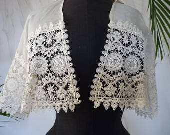 1915 Bolero lace-blouse, antique blouse, antique dress, antique gown, Edwardian Dress