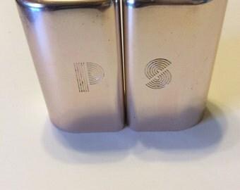 Vintage Metal Salt and Pepper Shaker Set
