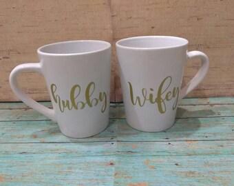 Hubby & Wifey Mug Set