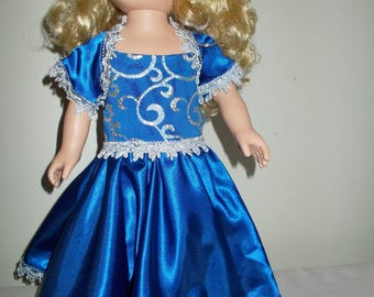 18 Inch Royally Blue Gown