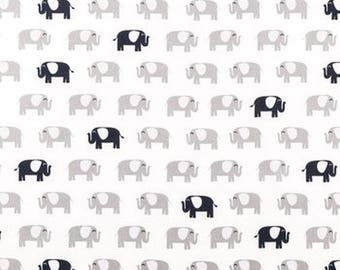 Elephant Fabric Navy Blue, White Fabric, Navy Blue Fabric by the Yard, Nursery Fabric, Cotton Fabric, Quilting Fabric, Apparel Fabric