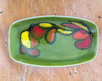 1960s/70s Poole Pottery Delphis Pin Tray Dish 361 Signed