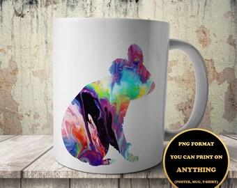 Koala, print on anything, image on transparent background, digital file, Watercolor, printable wall art (935)