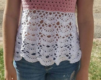 Light and Airy Crocheted Tank Top