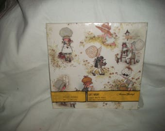 Vintage Holly Hobbie Gift Wrap in Unopend Package