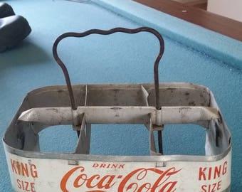 Vintage Coca-Cola bottle carrier
