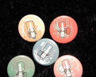 Castle Crashers - Button Set ( Set & Pick ) - SALE!~ 'w'