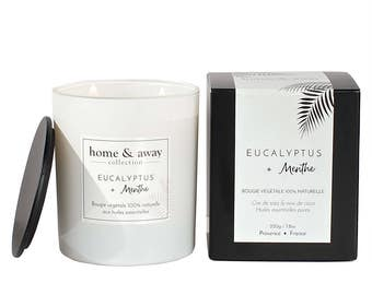 Natural scented candle - Eucalyptus + Mint