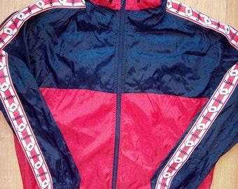 Lotto Calcio Italia Mens Windbreaker Nylon Tracksuit Top Hooded Jacket Hoodie