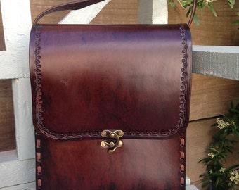 Messenger Bag - Dark Brown - Leather Handmade