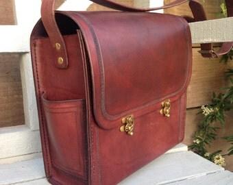The Graduate Satchel #2  Leather Handmade