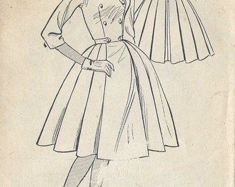 "1950s Vintage Sewing Pattern B34"" DRESS (R491)  BESTWAY D.3,814"