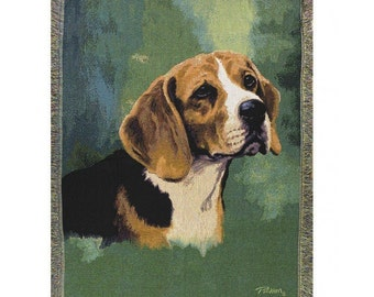 Personalized Beagle Dog Throw Blanket