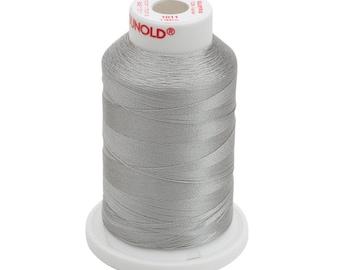 1011 Steel Gray Gunold Thread - 40 WT SULKY RAYON Mini King Cones 1,100 Yds - Machine Embroidery Thread