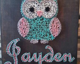 Owl Nail String Art