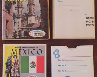 Vintage View Master Reels (3) MEXICO