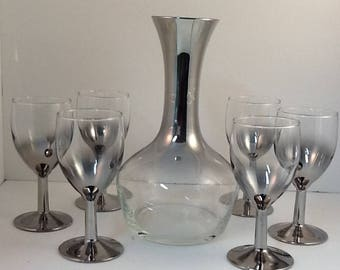 Silver Ombré Wine Set