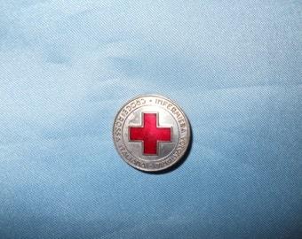 Old Italian Red Cross badge for volunteer nurse !