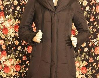 Women's Tahari Long Black Down Jacket