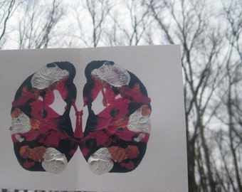 "Original Inkblot Art, Psychology Art, Therapy Art, Therapy Office Art, Conversation Art ""Swans"""