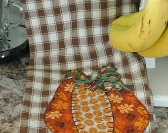 Pumpkin hand towel/tea towel