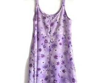 90s Pastel Grunge Floral Babydoll Dress