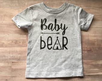 Baby bear toddler shirt
