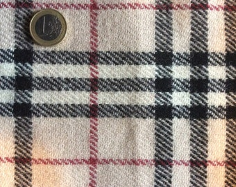 Genuine pure wool check fabric