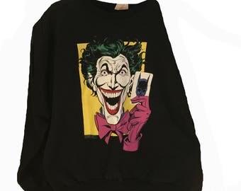 Vintage Joker Crewneck Sweater DC Comics 1989