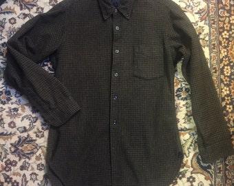 1960s Long Sleeve Wool Shirt from the Pendleton Woollen Mills of Portland, Oregon