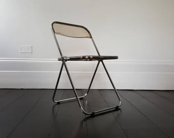 Mid-century amber Giancarlo Piretti for Castelli 'Plia' chair