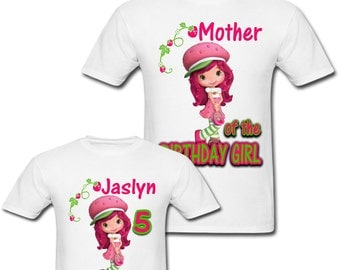 Personalized Strawberry Shortcake Birthday shirt for Family
