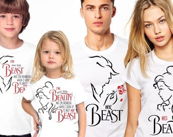 Disney Family Shirts, Beauty and The Beast, Disney shirts, Disney Family Vacation T shirts, Disney Inspired Shirts, Disney Shirts For Family