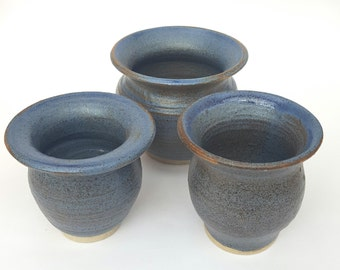A set of hand thrown decorative bowls